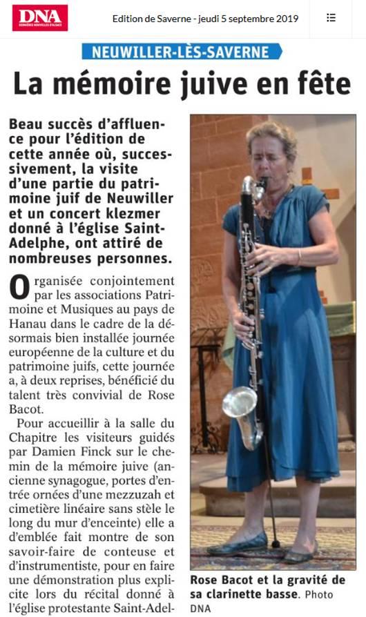 Concert à Neuwiller en Alsace